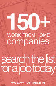 Graphic Design Work From Home Work At Home Jobs List Of Over 150 Companies Wahwithme