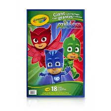 crayola disney u0027s pj masks 18 giant coloring pages gift kids