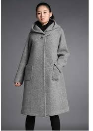 Womens Winter Coats Plus Size Women Winter Wool Cashmere Hoody Coat Slim Unremovable Hat Lady