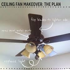 spray paint ceiling fan before and after a 6 ceiling fan makeover
