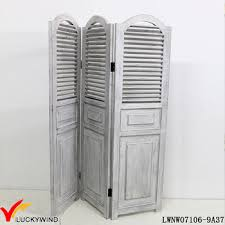 arched shutter panels vintage french style wooden room divider