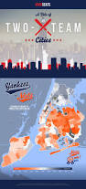 New York Zip Map by Infographics Where Mets And Yankees Fans Live Vivid Seats