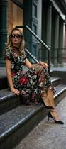 click for details floral print embroidered midi dress