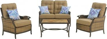 Deep Seating Patio Hanover Hudson Square 4 Piece Outdoor Deep Seating Lounge Set