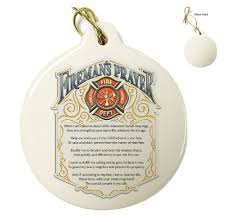 fireman s prayer porcelain ornament