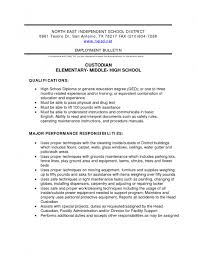 sample resume for custodial worker resume for your job application