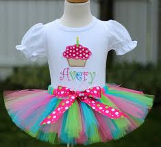 1st birthday tutu personalized multicolored polka dot cupcake birthday tutu