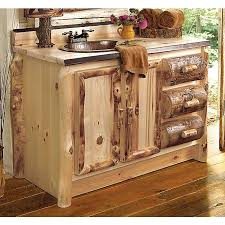 Rustic Hickory Vanity  Sink Left Reclaimed Furniture Design Ideas - 4 foot bathroom vanity