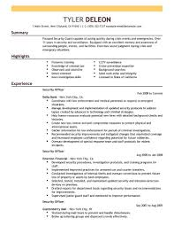 security officer resume best security officer resume exle livecareer