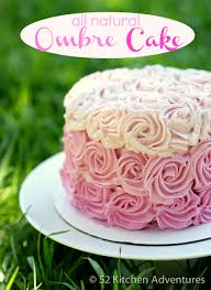 all natural ombre rose cake no food coloring 52 kitchen
