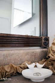 Trim Around Bathroom Mirror Diy Tutorial Add Wood Trim Around A Mirror Mirror