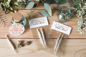 7 cannabis wedding favors that are for your wedding
