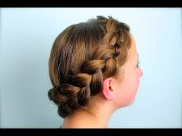 hair braid across back of head wrap around dutch pancake braid cute girls hairstyles youtube