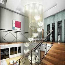 hall and stairs lighting modern living room 11 ball crystal chandelier penthouse floor