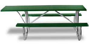 wheelchair accessible overhang recycled plastic picnic table with