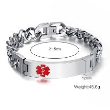 medical id bracelets for women amazon best sellers best men u0027s id bracelets