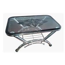 stainless steel table top cover stylish stainless steel glass top table at rs 2700 piece