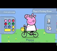 juegos colorear peppa pig george dinosaurio paint game