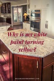 white kitchen cabinets turned yellow why is my white paint turning yellow reliable home