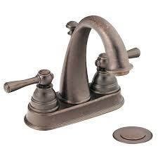 Brushed Bronze Bathroom Fixtures Moen 6121orb Kingsley Two Handle High Arc Bathroom Faucet