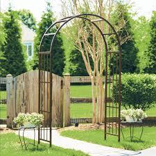 moon gate 7 ft steel arch arbor hayneedle