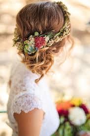 flower hair bun 10 flower crown hairstyles for any mywedding