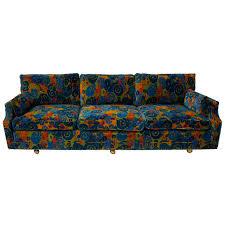 Mid Century S Jack Lenor Larsen Velvet Sofa For Sale At Stdibs - Mid century sofas