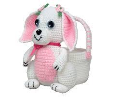 bunny easter basket 7341 bunny easter basket crochet amigurumi pattern