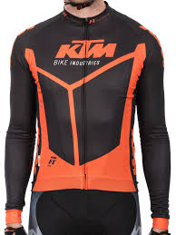 ktm motocross gear ktm black orange factory team race spring long sleeved mtb jersey