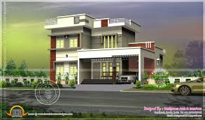 Flat Roof House 244 Square Yards Modern Flat Roof House Kerala Home Design And