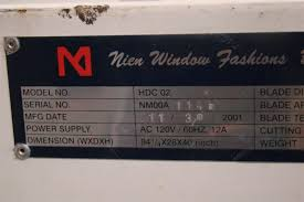 Blind Cutting Service Nien Window Fashions Blind Cutting Machine Wood And Pvc Only