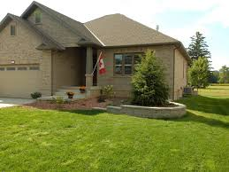front yard garden with retaining wall mt brydges photo gallery
