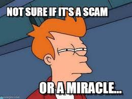 Scam Meme - not sure if it s a scam futurama fry meme on memegen