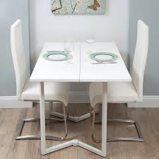 decorating modern dining room ideas using white foldable dining