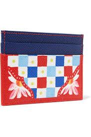 dolce gabbana light blue mujer dolce gabbana printed texturedleather cardholder red women bags