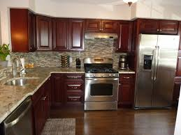 Kitchen With Stainless Steel Backsplash Modern Kitchen Stainless Steel Appliances Granite Counter Tops