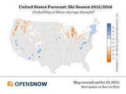 Ski Resorts In Colorado Map by Opensnow Winter Ski Forecast For 2015 2016 Opensnow