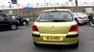peugeot yellow peugeot 307 2 0 hdi 90 lx youtube