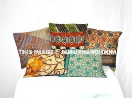 Accent Pillows For Sofa 16x16 Decorative Patchwork Throw Pillows