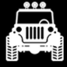 jeep off road silhouette astroport sariska