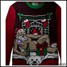 naughty christmas sweaters for men and women ugly christmas