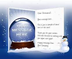 Company Message On Business Cards Christmas Ecards For Business Electronic Xmas Holiday Cards