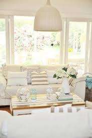How To Decorate A Beach Cottage by A Beach Cottage Coastal Family Room Makeover With Drop Cloths