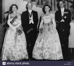 Queen Elizabeth Ii House President Dwight D Eisenhower Before The State Dinner At The