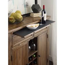 solid wood wine server with adjustable dining storage and storage
