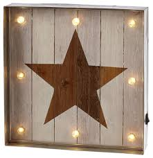 Galvanized Decor Galvanized Framed Lighted Star Wall Decor Farmhouse Kids Wall