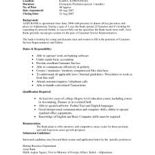 Resume Objective For Bank Teller Resume Objective Bank Teller Sample Resume No Experience Personal
