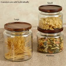 kitchen canisters glass calvina stackable glass kitchen canisters