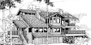 view home sloping lot multi level house plan 3d home 360 view