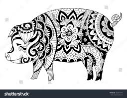 nice pig coloring inspiration design coloring book pig